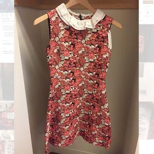 Sandro floral dress w/ silk collar (size 2 = MED)